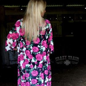 Sweaters - Crazy Train Pink Rose Duster